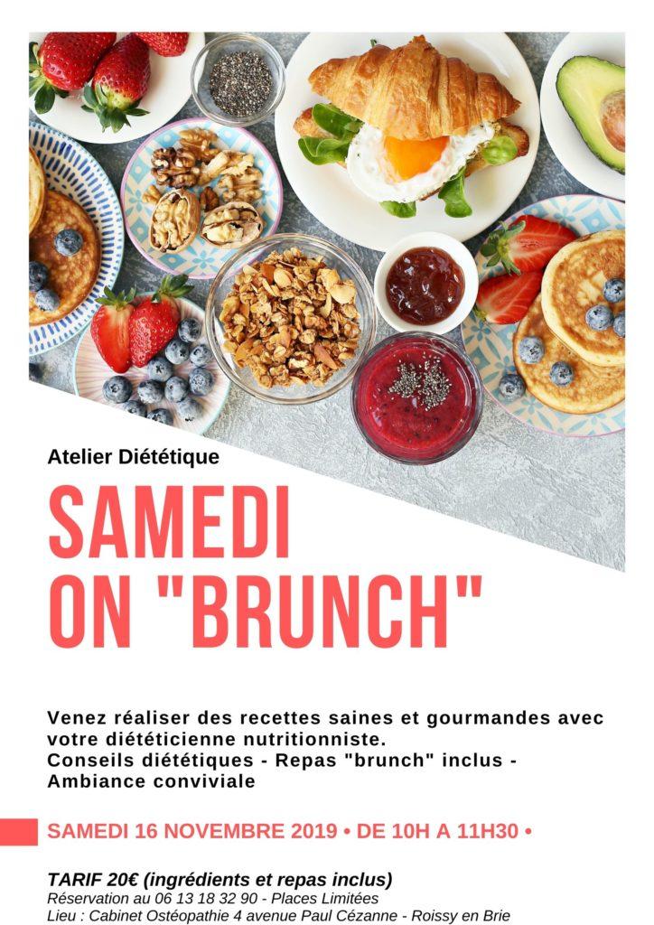 Atelier diététique Brunch Roissy en Brie