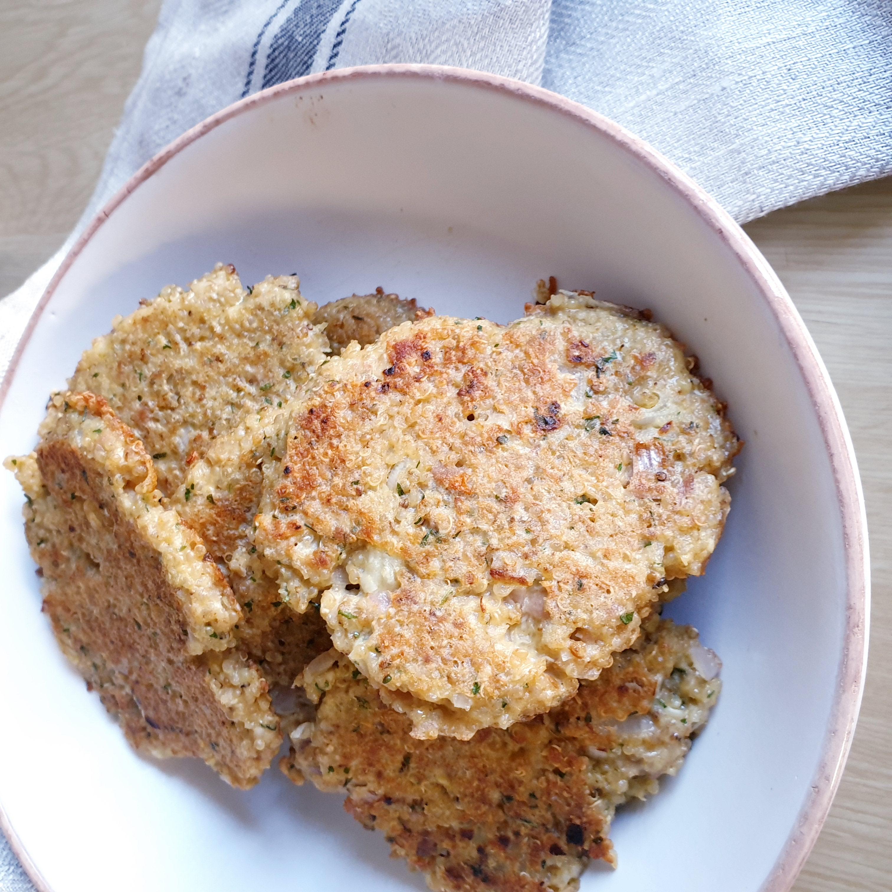 Recette Galette de quinoa au thon